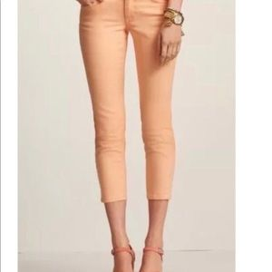Cabi #329 Cropped Bree creamsicle jeans size 2